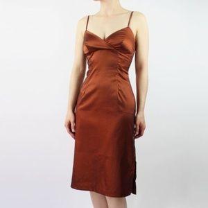 Dresses & Skirts - VINTAGE 1990s Copper Dress Cocktail Party